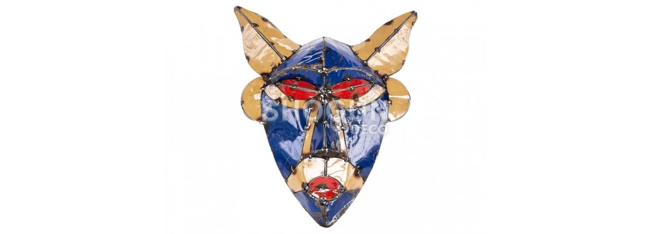 Masque mural en bidon recyclé - petit format