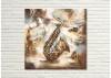 Tableau en métal en relief - Saxophone