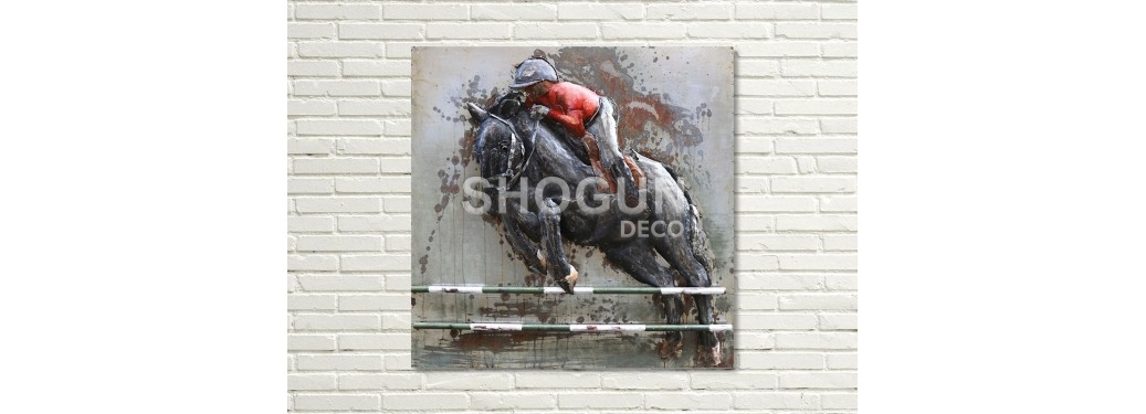 Metal relief painting - Jumping