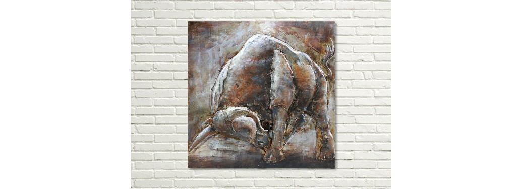 Metal relief painting - Taurus