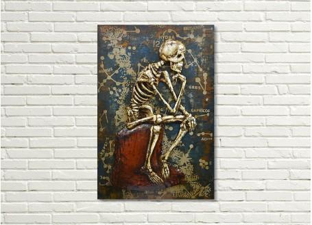 Tableau en métal en relief - Memento Mori