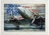 Tableau en bois et métal en relief - Avion