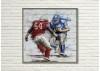 Tableau en bois et métal en relief - Football Américain