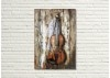Tableau en bois et métal en relief - Violon
