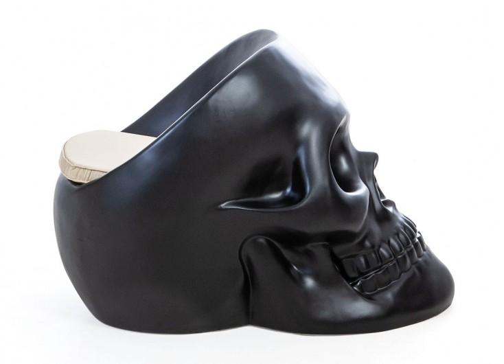 Fauteuil Tête de mort - Noir
