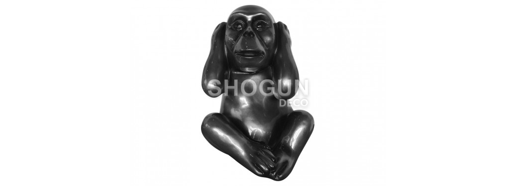 Kikazaru wise monkey statue in resin