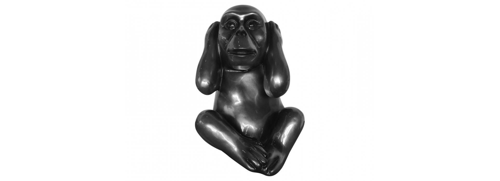 Statue singe de la sagesse Kikazaru en résine