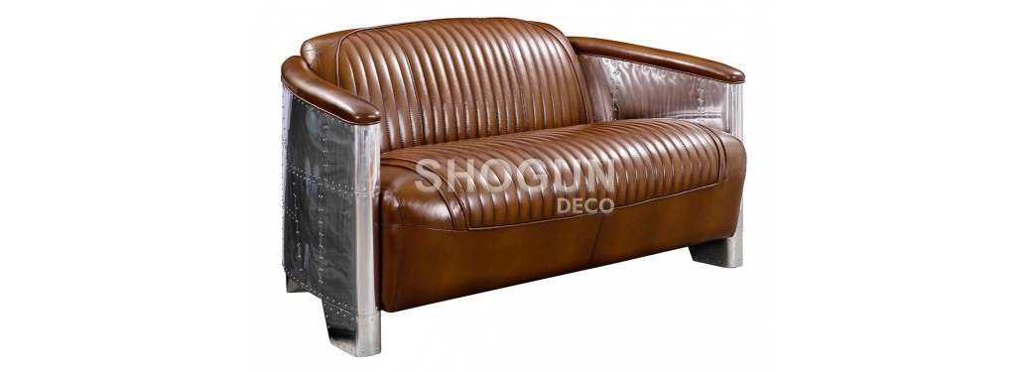 Aviator sofa - Brown leather