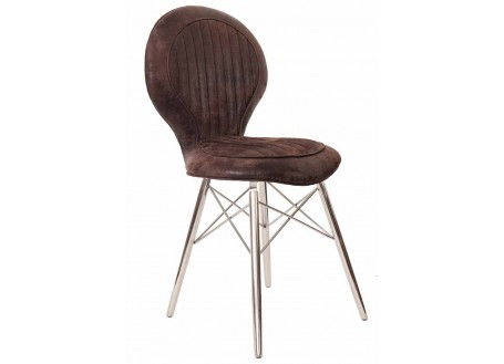 Chaise DC3 - Cuir marron