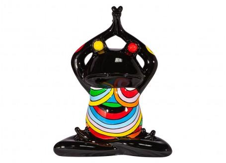 Statue grenouille inspiration en résine