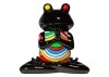 Statue de grenouille en plein méditation