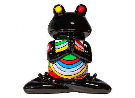 Statue de grenouille Yoga, en position du lotus, mains jointes