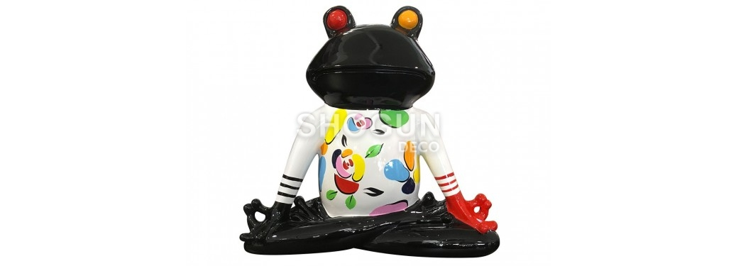 Statue grenouille zen en résine