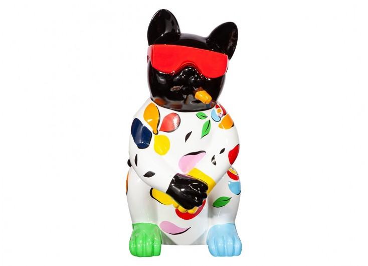 chat avec cigare et lunettes rouge