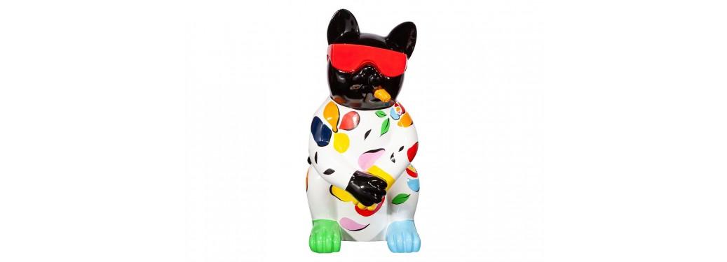 Cat statue in resine