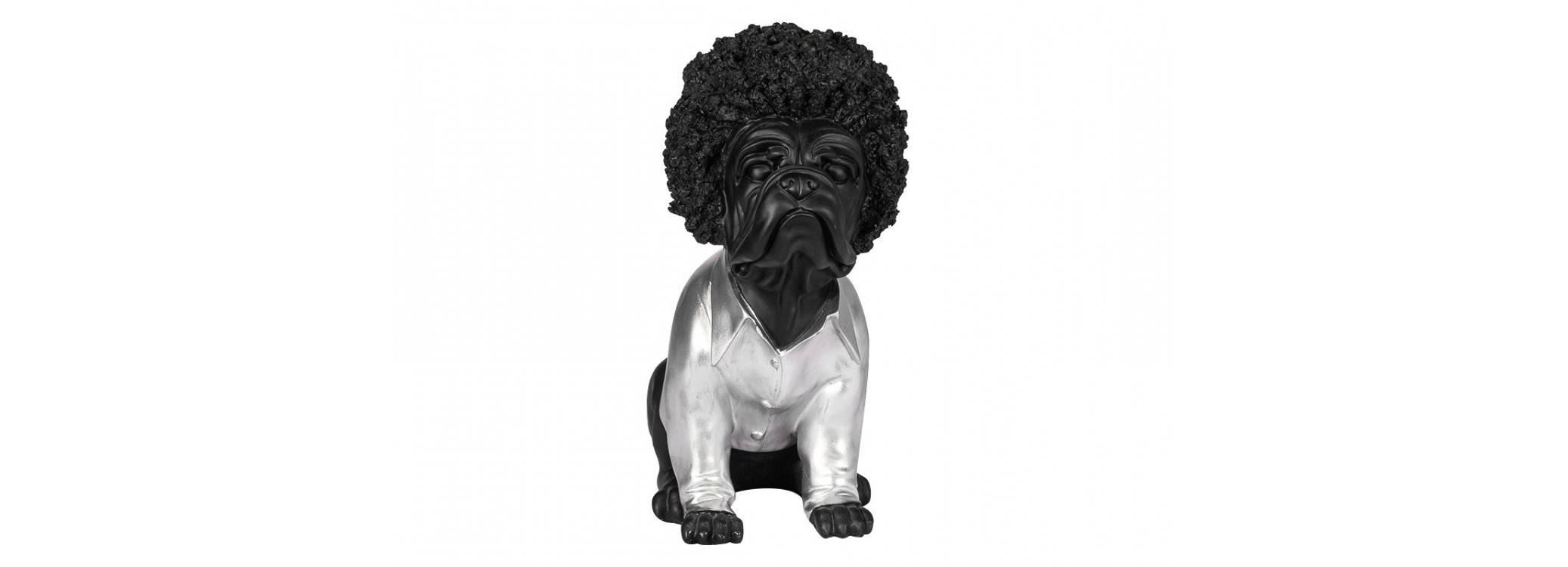 Statue chien disco en résine