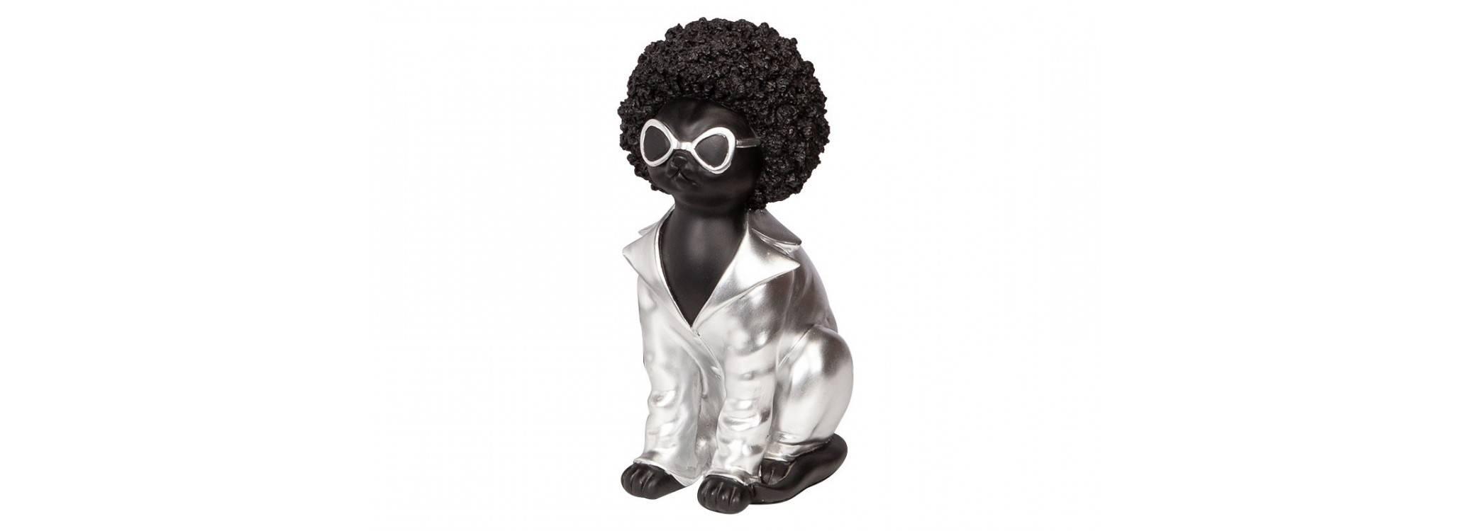 Afro cat statue in resine