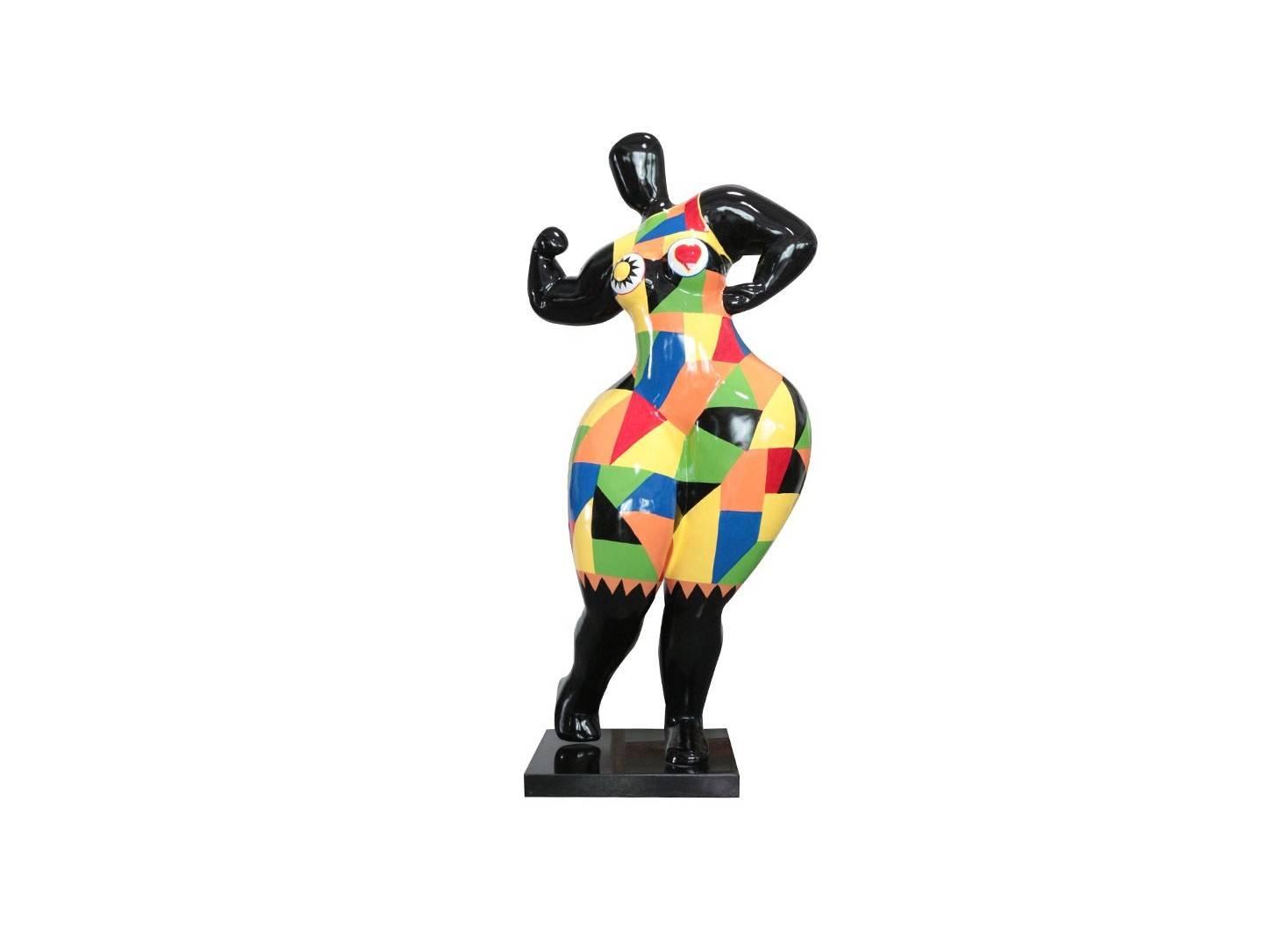 Statue grande femme ronde en résine