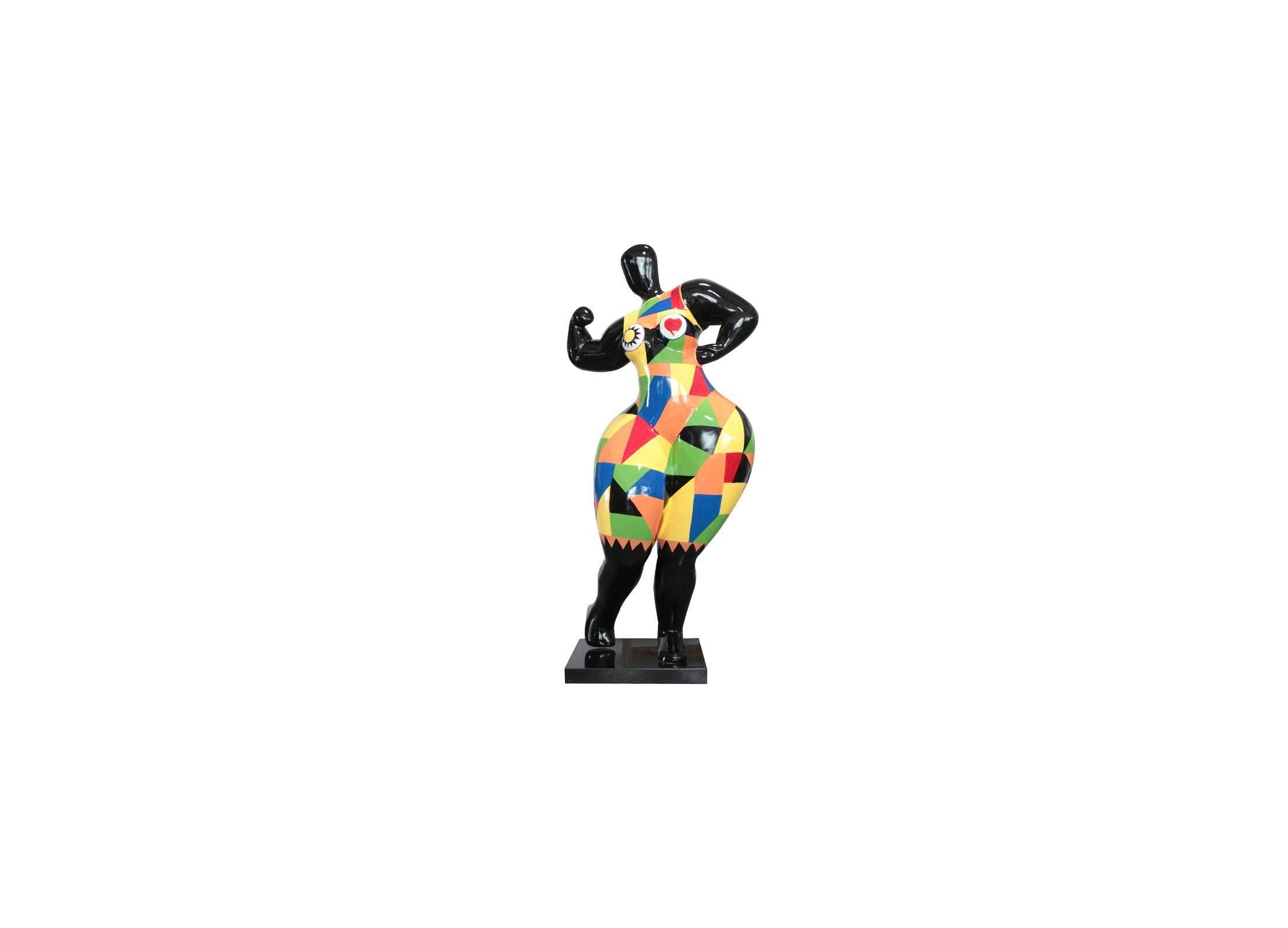 Sculpture Femme Ronde Colorée statue femme en résine
