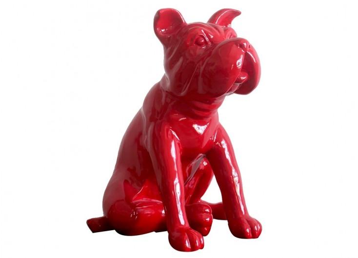 Statue Chien rouge