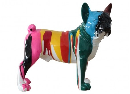 Bulldog statue in resine