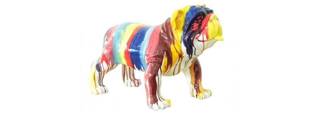 Bulldog statue in resine
