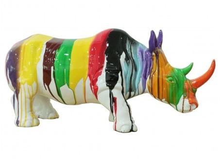 Statue rhinocéros en résine