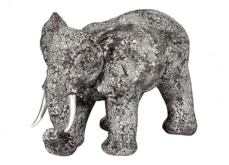 Statue elephant d'Afrique en argile