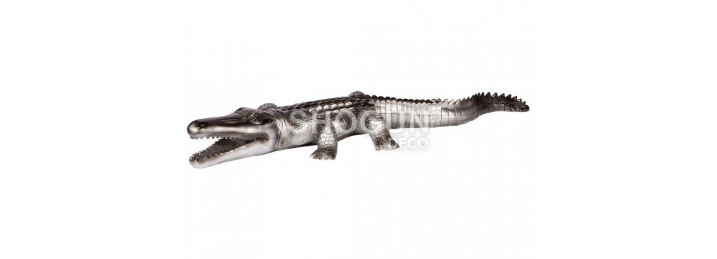 Statue crocodile en résine