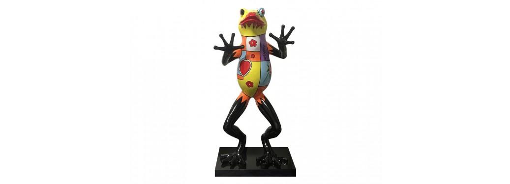 Statue grenouille en résine