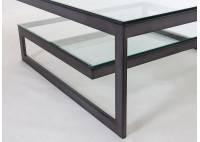Table basse rectangulaire Azura en verre
