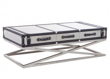 Table basse Kana en aluminium