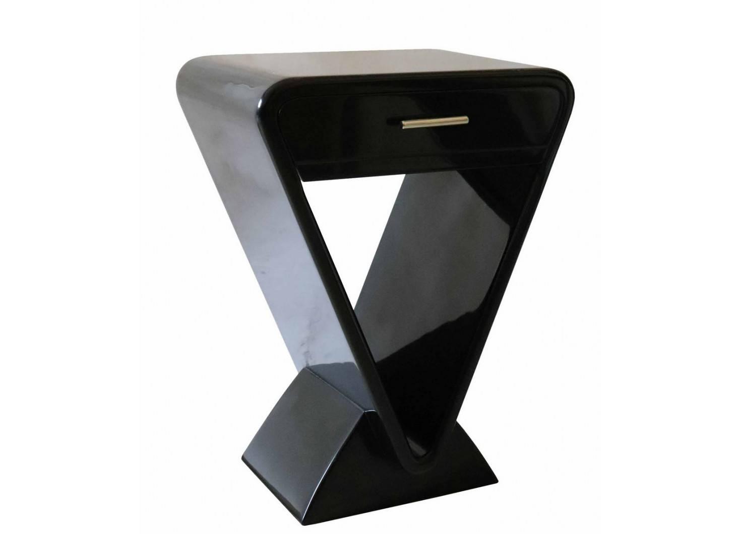 Chevet Icône vernis noyer - 1 tiroir