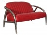 Canapé club Quad - Cuir rouge