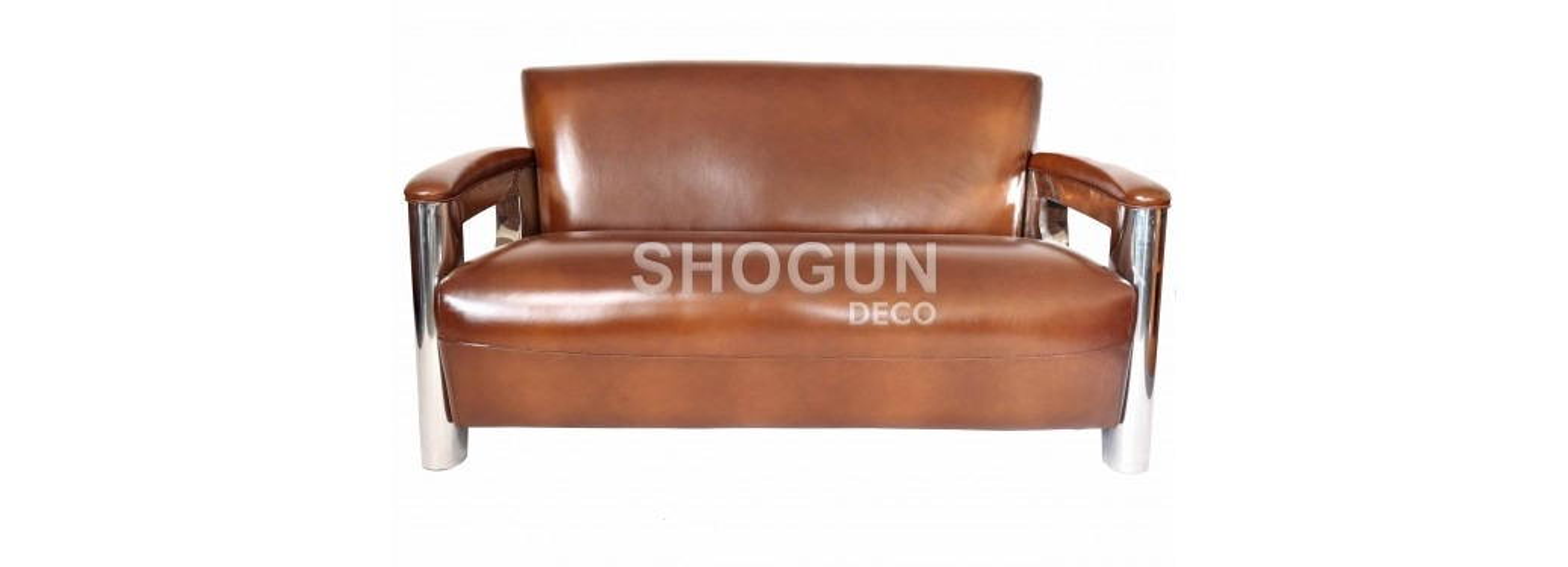 Canapé club Aston - Cuir marron