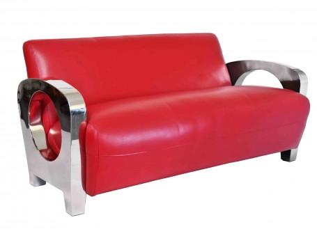 Canapé club Sydney - Cuir rouge