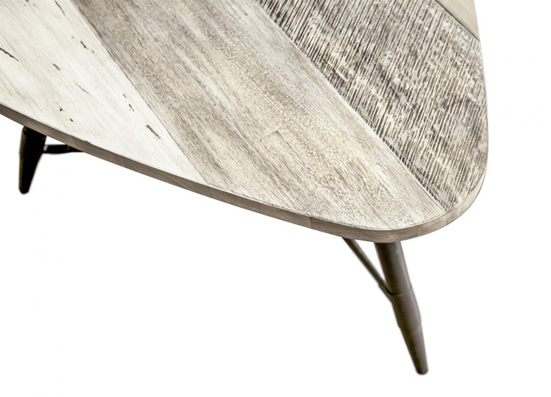 Table basse havana grand mod le bois massif et placage acacia pieds et accessoires en m tal - Modele table basse ...