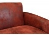 Canapé club Nogent - tissu rouge
