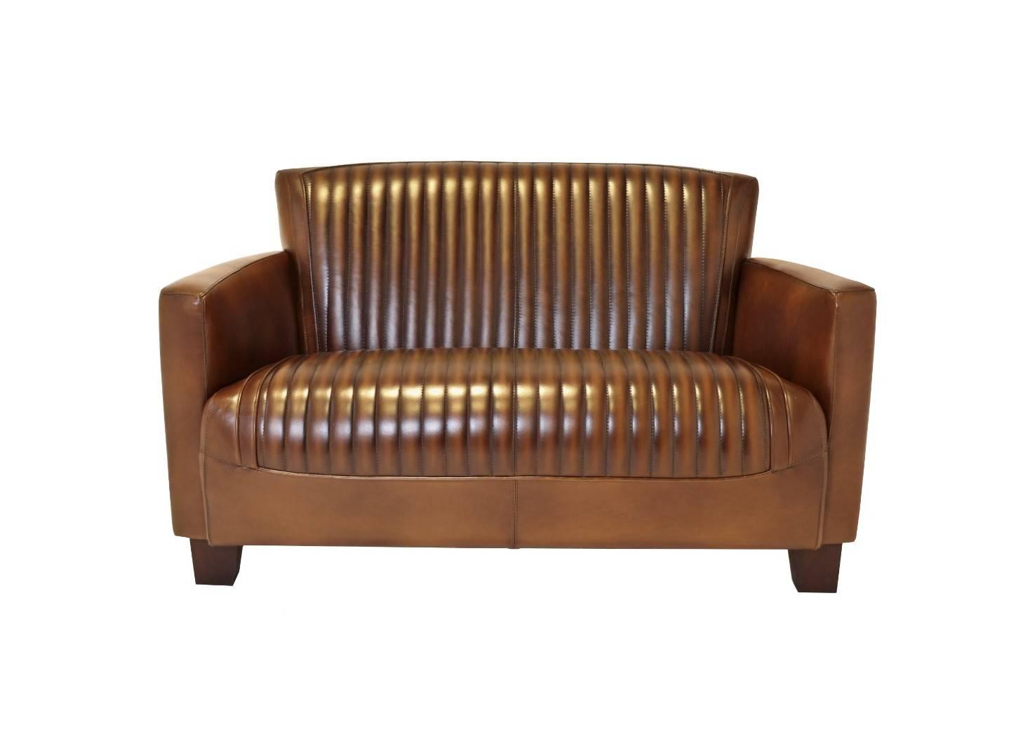 Canapé club Nogent sport - cuir marron