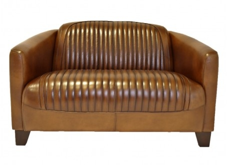 Barquette sporty sofa - Brown leather
