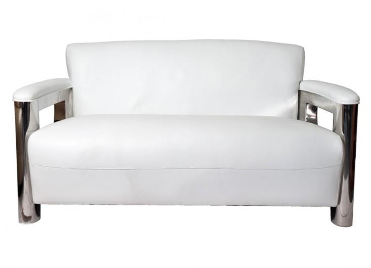 Canapé club Aston - Cuir blanc