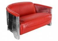 Canapé club Aviator rouge racing - 3/4 face