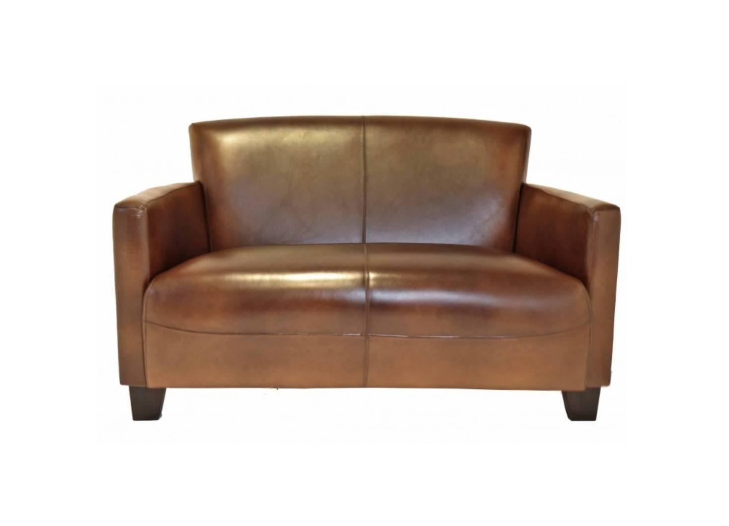 Canapé club Nogent - cuir marron