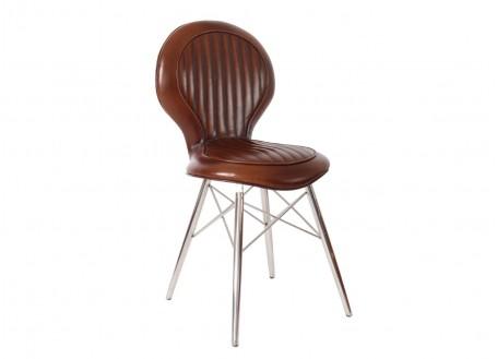 Chaise DC3 marron Vintage Havane