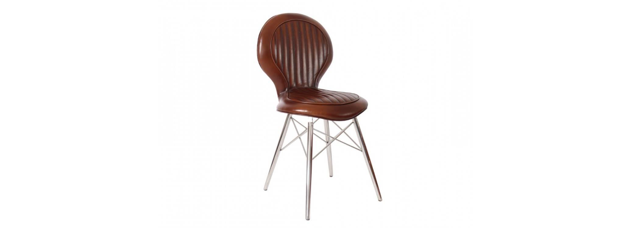 Chaise DC3 - Cuir marron