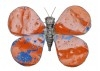 Statuette de papillon en métal récupéré