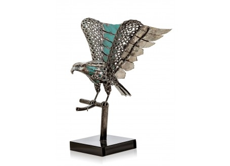 Statuette de moto cross en métal