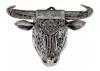 Sculpture tête de taureau en métal récupéré