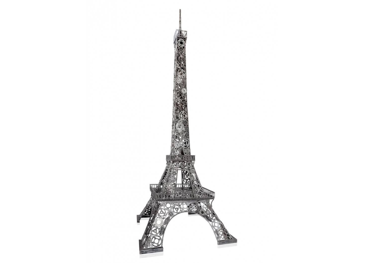 Sculpture de Tour Eiffel en métal récupéré