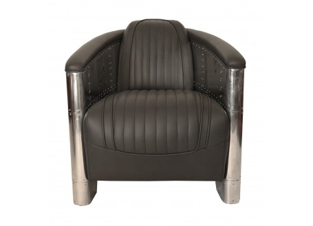 Grey aviator armchair